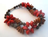 Handcrafted Natural Seed Eco Vegan Bracelet.